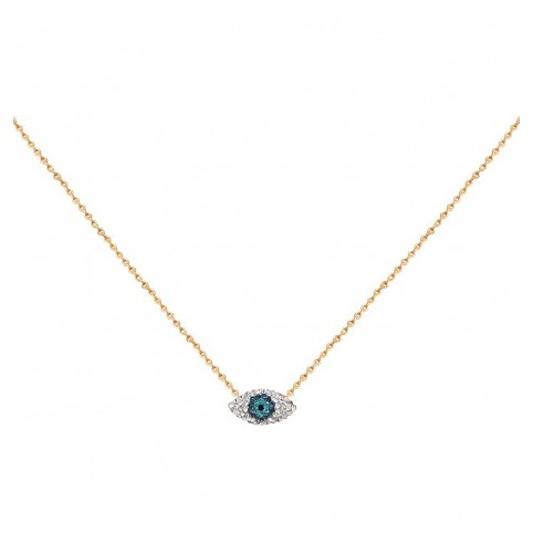 Collier Kuchi Mini Eyes Bleus