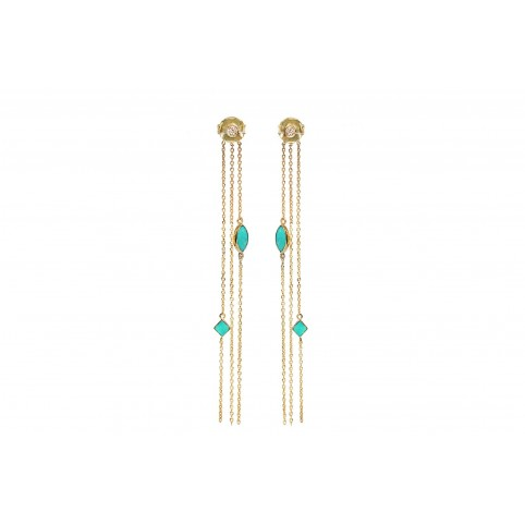 Boucles d'Oreilles Shayan Turquoise