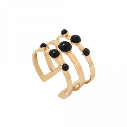Bague Maya Tribal Onyx