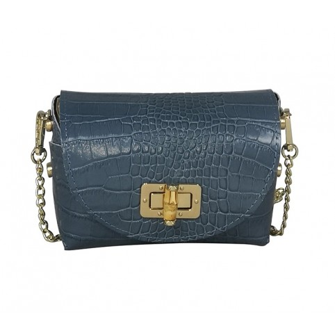 Le Candice Croco Blue jean