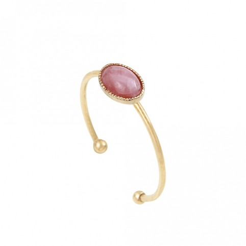 Bague Cab simple Rhodochrosite