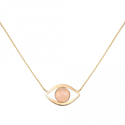Collier GM Eros Quartz Rose