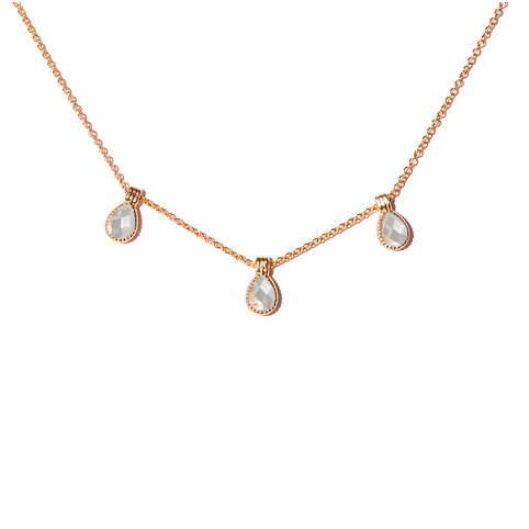 Collier Hasna Nacre Blanche