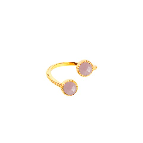 Bague Hawaï Quartz Rose