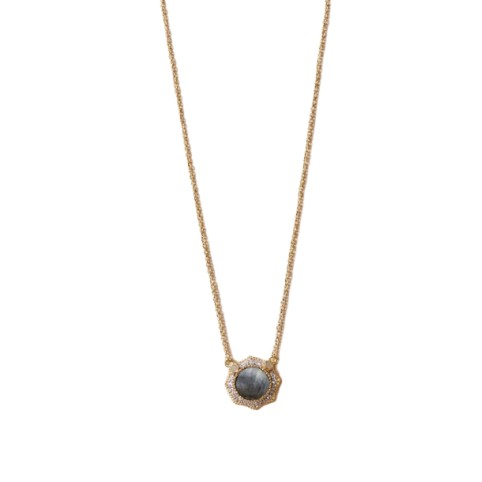 Collier Janih Nacre Grise